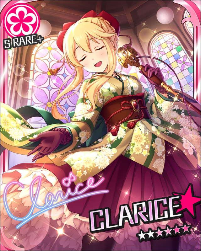 blonde_hair blush character_name clarice_(idolmaster) closed_eyes idolmaster idolmaster_cinderella_girls long_hair smile stars yukata