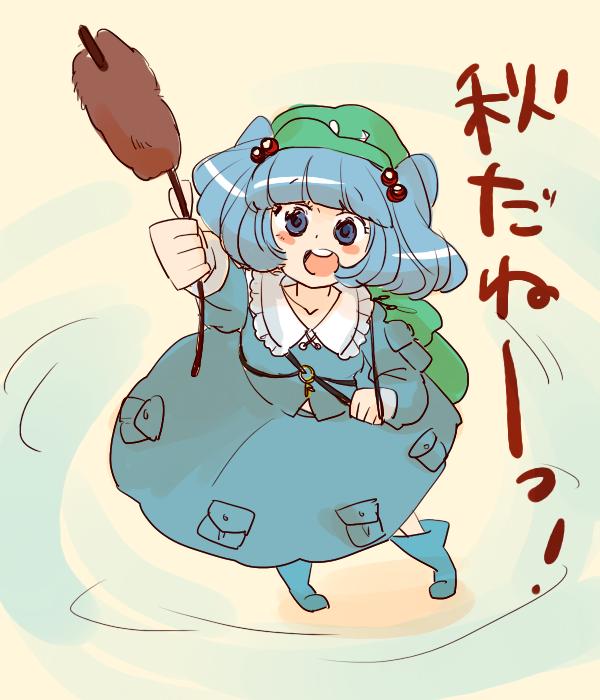 1girl blue_hair hat kawashiro_nitori komaku_juushoku short_hair touhou twintails