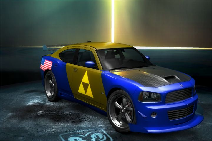american_flag car car_show customized dodge dodge_charger dodge_charger_srt8_super_bee front game need_for_speed:_undercover the_legend_of_zelda triforce