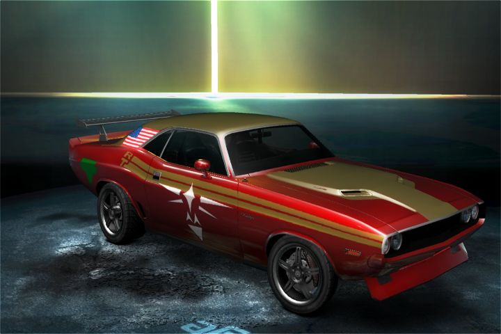 american_flag car car_show customized dodge dodge_challenger eagle_triforce front game need_for_speed:_undercover the_legend_of_zelda triforce