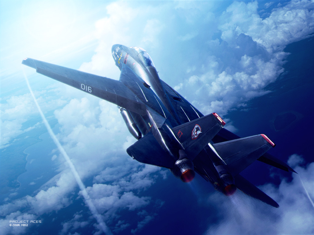 ace_combat ace_combat_5 afterburner aircraft airplane climbing contrail drop_tank f-14_tomcat fighter_jet missile tagme