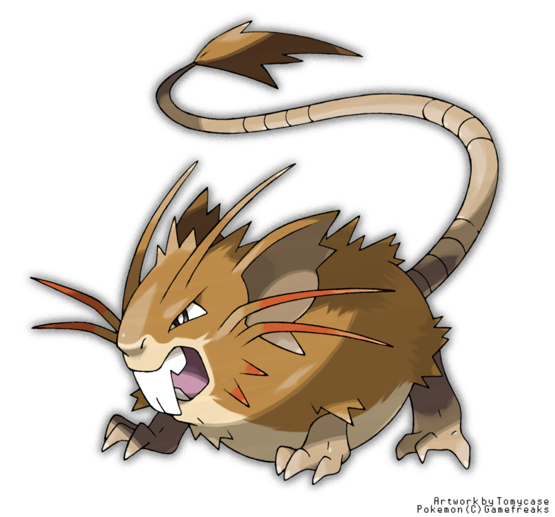 artist_name commentary english fangs mega_pokemon no_humans official_style open_mouth outline pokemon pokemon_(creature) raticate simple_background solo sugimori_ken_(style) tail tomycase white_background