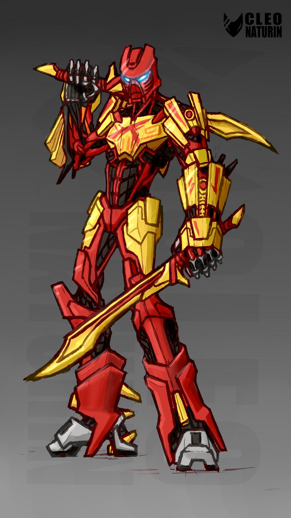 bionicle blue_eyes dual_wielding highres lego mask sword tahu weapon