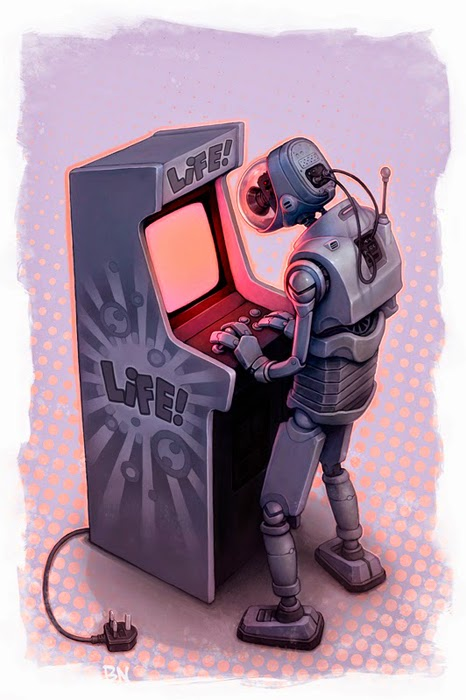 arcade_cabinet ben_newman cable camera monitor_light original playing_games robot solo unplugged