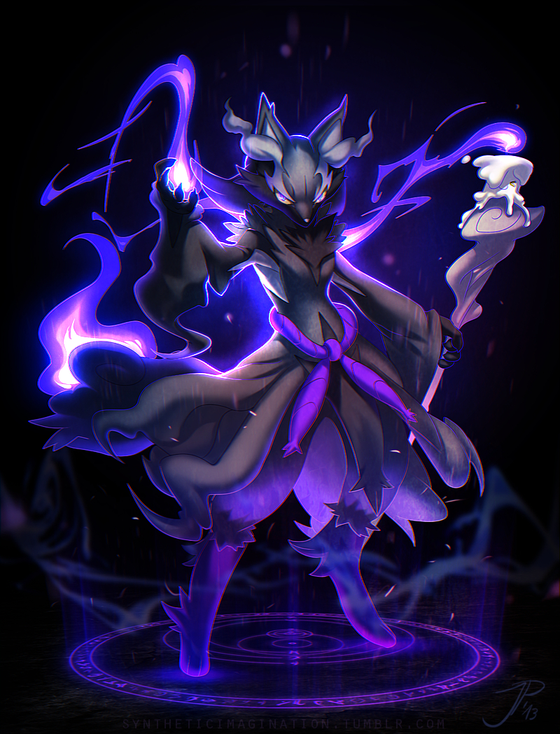 alternative_color black_background cat-meff dark_background delphox duo fire full_body glowing glowing_eyes litwick looking_at_viewer no_people png_conversion pokemon pokemon_species simple_background staff standing violet_eyes weapon