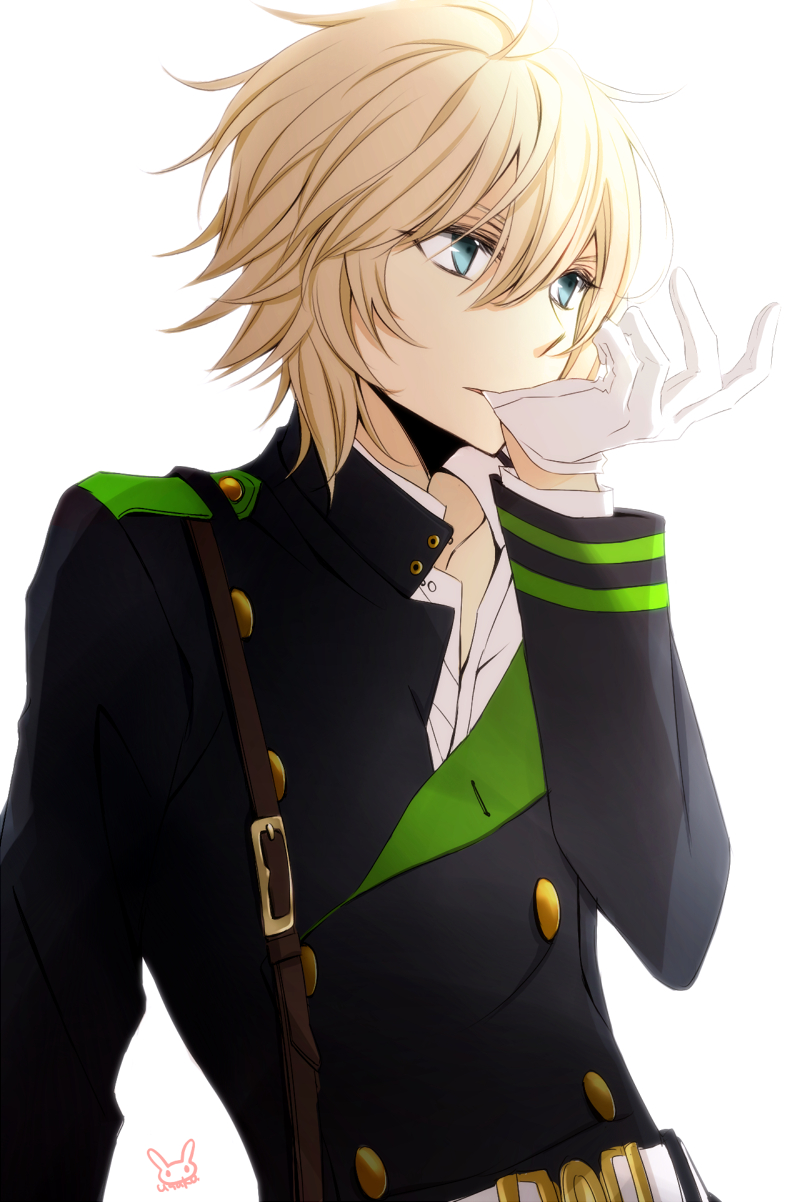 blonde cosplay high_resolution hyakuya_mikaela hyakuya_yuuichirou_(cosplay) male owari_no_seraph png_conversion short_hair solo tsukimori_usako