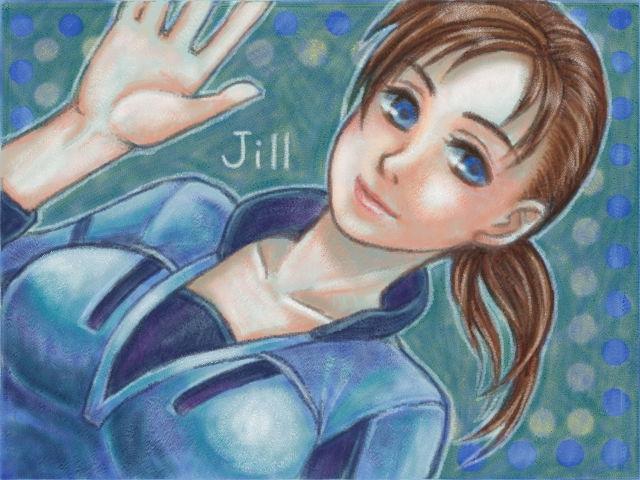 1girl blue_eyes breasts jill_valentine kikimimi_612 lips long_hair resident_evil resident_evil_5 solo