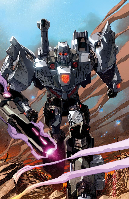 1boy alex_milne arm_cannon autobot cannon highres male mecha megatron no_humans robot science_fiction solo transformers weapon