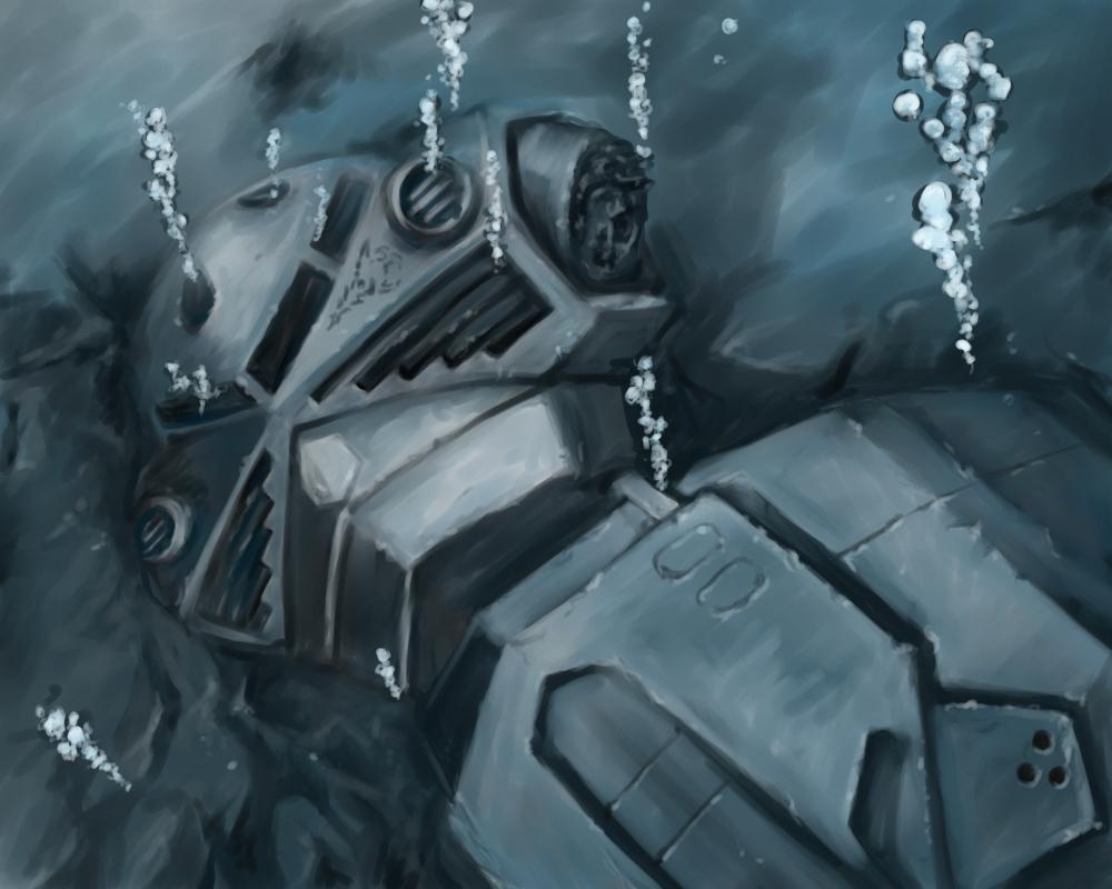 d-ma damaged gundam gundam_ms_igloo mecha underwater water ze'gok
