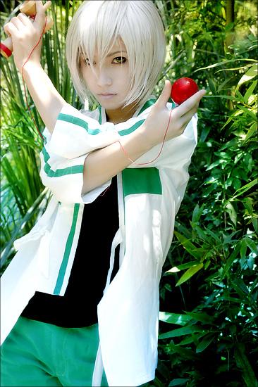 1boy asian cosplay kendama male_focus photo solo trap