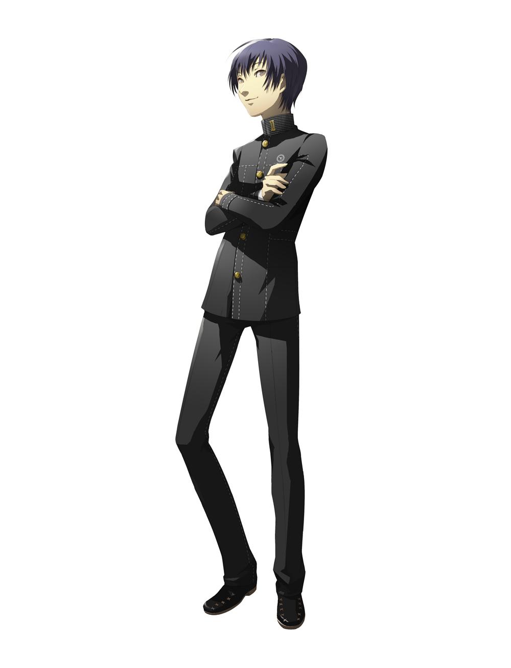crossed_arms grey_eyes highres ichijou_kou jacket male official_art persona persona_4 shigenori_soejima short_hair soejima_shigenori
