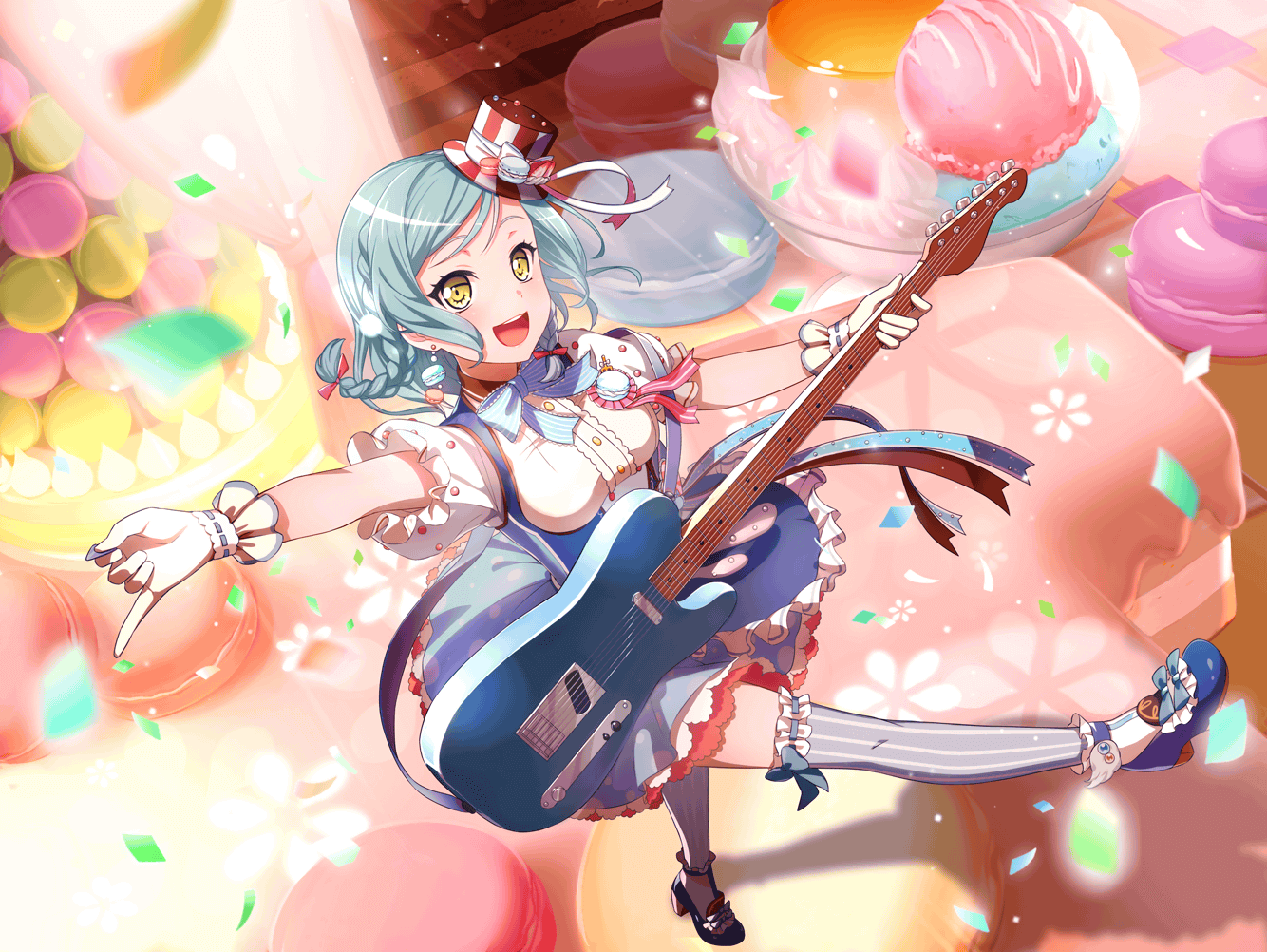 1girl bang_dream! hikawa_hina official_art smile solo