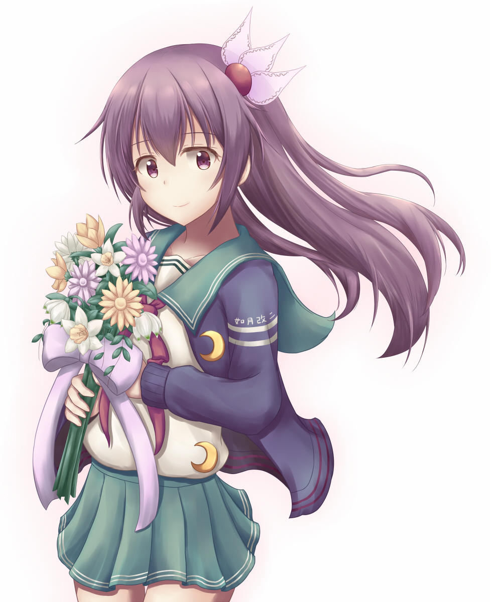 kisaragi_(kantai_collection) long_hair purple_eyes seifuku violet_hair