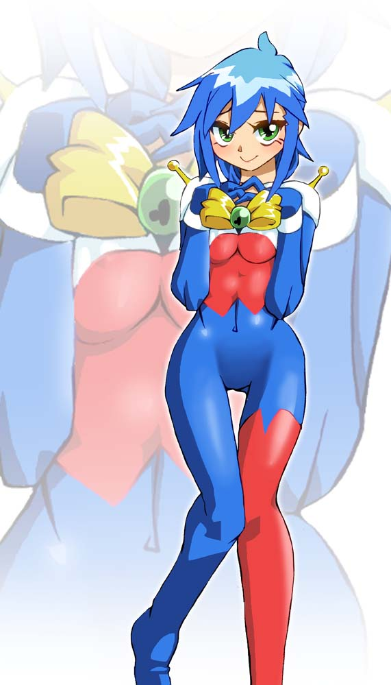 1girl allenby_beardsley breast_squeeze breasts commentary_request g_gundam graphite_(medium) gundam millipen_(medium) mobile_trace_suit onnaski short_hair skin_tight solo super_robot_wars traditional_media