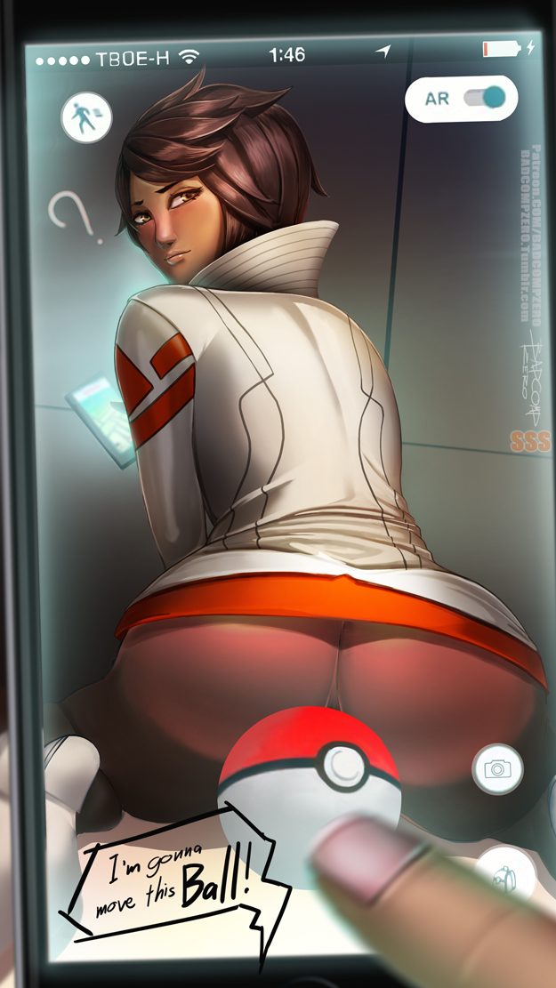 10s 1girl ass back badcompzero blush booty brown_eyes brown_hair candela_(pokemon) cellphone censored convenient_censoring dark_skin embarrassed english_text finger hips lips looking_at_viewer looking_back nice_ass novelty_censor phone poke_ball pokeball pokemon pokemon_go pov question_mark short_hair smartphone solo_focus speech_bubble