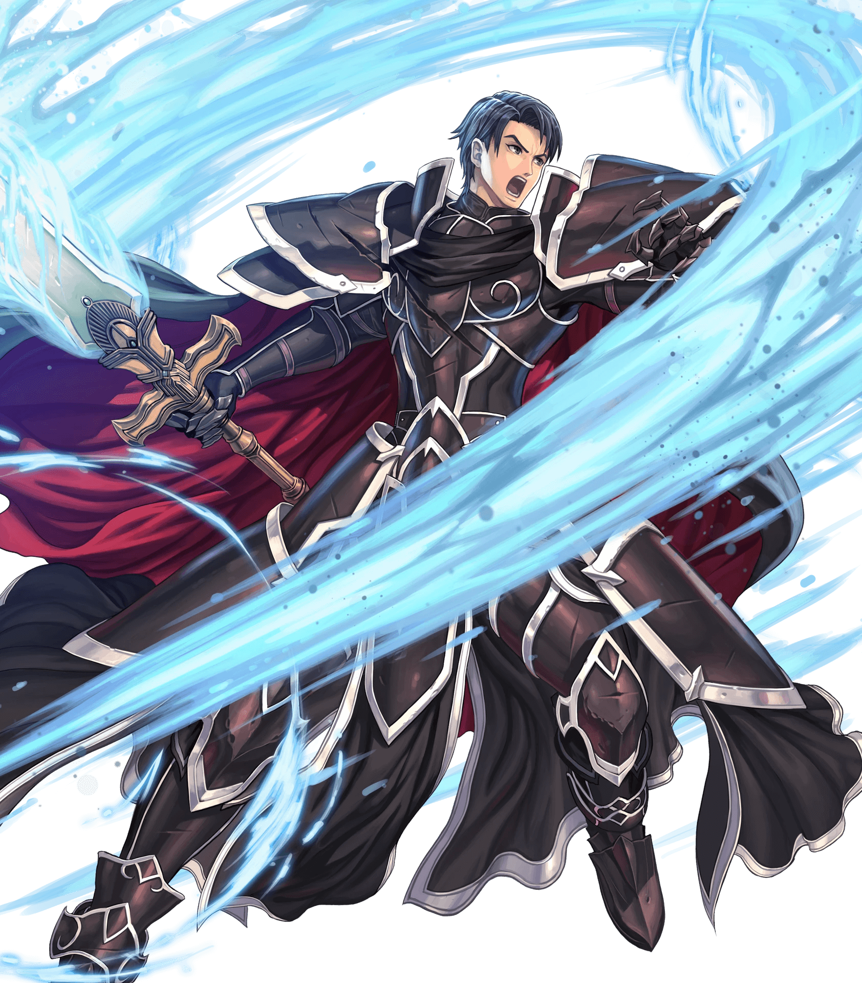 1boy armor black_knight fire_emblem fire_emblem:_akatsuki_no_megami fire_emblem_heroes full_body highres male_focus official_art short_hair solo spoilers transparent_background zelgius