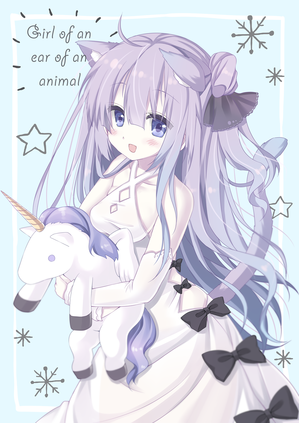 dress long_hair purple_eyes unicorn_(azur_lane) violet_hair