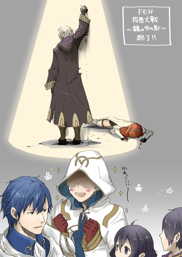 ahoge armor black_hair blue_eyes blue_hair blush book cape celica_(fire_emblem) closed_eyes dark_persona dress dual_persona father_and_daughter father_and_son fire_emblem fire_emblem:_kakusei fire_emblem_echoes:_mou_hitori_no_eiyuuou fire_emblem_heroes gimurei gloves hood hooded_jacket jacket jewelry krom long_hair male_focus male_my_unit_(fire_emblem:_kakusei) mamkute mark_(fire_emblem) my_unit_(fire_emblem:_kakusei) open_mouth red_eyes redhead robaco robe short_hair siblings smile summoner_(fire_emblem_heroes) tiara twins weapon white_hair