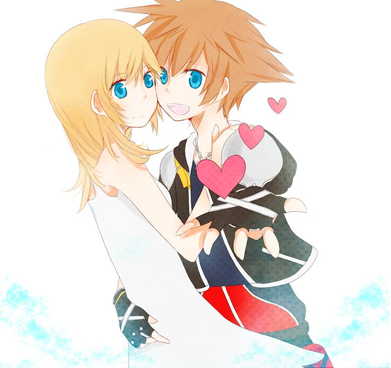 1boy 1girl bad_id bad_pixiv_id karudoll namine sora_(kingdom_hearts)