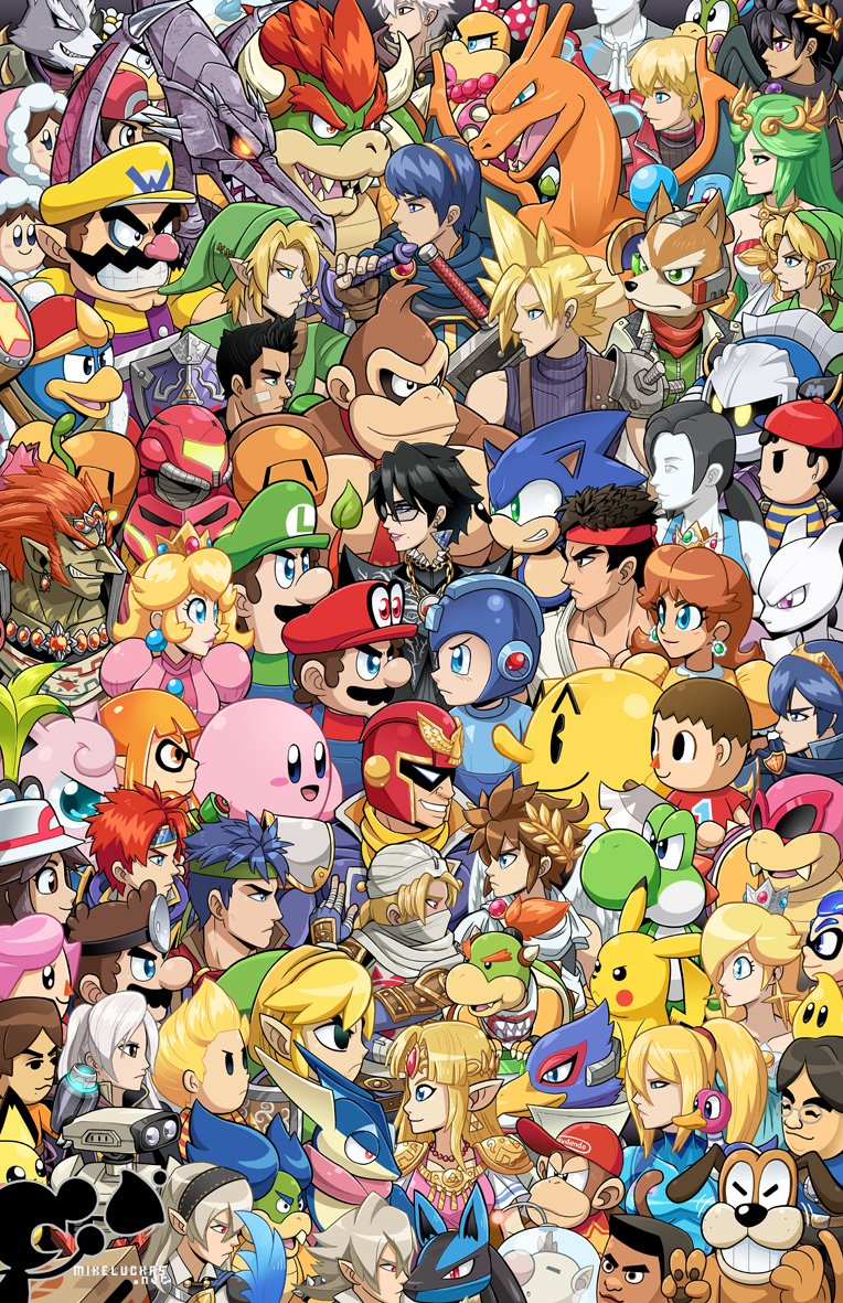 alien amulet android armor bayonetta bayonetta_(character) bayonetta_2 black_hair blonde_hair blue_(pokemon) blue_bodysuit blue_eyes blue_hair bodysuit bowser bowser_jr. box boxing_gloves braid breasts brown_hair capcom cape cappy_(mario) captain_falcon cardboard_box charizard claws cleavage_cutout cloud_strife dark_pit diddy_kong dinosaur donkey_kong donkey_kong_(series) doubutsu_no_mori dr._mario dress earrings eyeshadow f-zero facial_hair falchion_(fire_emblem) falco_lombardi female_my_unit_(fire_emblem:_kakusei) female_my_unit_(fire_emblem_if) final_fantasy final_fantasy_vii fire_emblem fire_emblem:_kakusei fire_emblem:_monshou_no_nazo fire_emblem:_souen_no_kiseki fire_emblem_heroes fire_emblem_if flipped_hair flower_earrings fox fox_mccloud furry game_&_watch ganondorf gen_1_pokemon glasses gloves goddess green_hair greninja hairband hat headband helmet high_ponytail hoshi_no_kirby ice_climber ice_climbers ike inkling ivysaur jewelry jigglypuff kid_icarus kid_icarus_uprising king_dedede kirby kirby_(series) legendary_pokemon link lipstick little_mac long_hair lucario lucas lucina luigi makeup male_my_unit_(fire_emblem:_kakusei) male_my_unit_(fire_emblem_if) mamkute mario mario_(series) marth marth_(fire_emblem:_kakusei) marvel_vs._capcom mask meta_knight metal_gear_(series) metal_gear_solid metal_gear_solid_2 metroid mewtwo mii_(nintendo) mike_luckas mole monster mother_(game) mother_2 mr._game_&_watch multiple_boys multiple_girls muscle mustache my_unit_(fire_emblem:_kakusei) my_unit_(fire_emblem_if) nana_(ice_climber) ness nintendo olimar open_mouth overalls palutena pichu pikachu pikmin_(creature) pikmin_(series) pit_(kid_icarus) pokemon pokemon_(creature) ponytail popo_(ice_climber) princess_daisy princess_peach princess_zelda punch-out!! r.o.b red_(pokemon) reverse_trap ridley robot rockman rockman_(character) rockman_(classic) rosetta_(mario) roy_(fire_emblem) ryuu_(street_fighter) samus_aran sega sharp_teeth sheik short_hair shulk skin_tight smile solid_snake sonic sonic_the_hedgehog splatoon star_fox street_fighter super_mario_bros. super_mario_galaxy super_mario_odyssey super_smash_bros. tail teeth the_legend_of_zelda the_legend_of_zelda:_a_link_between_worlds the_legend_of_zelda:_breath_of_the_wild the_legend_of_zelda:_ocarina_of_time the_legend_of_zelda:_twilight_princess tiara toon_link turban twin_braids twintails varia_suit villager_(doubutsu_no_mori) wario wario_land warioware weapon wii_fit wii_fit_trainer wings wolf_o'donnell xenoblade_(series) xenoblade_1 yellow_eyes yoshi young_link zero_suit