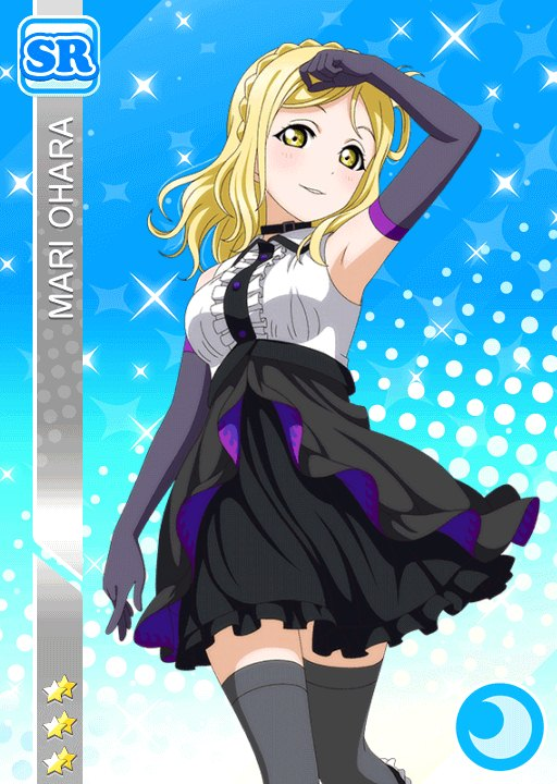 armpits blonde_hair blush character_name dress gloves love_live!_school_idol_festival love_live!_sunshine!! ohara_mari short_hair skirt smile yellow_eyes