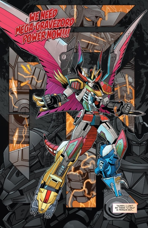 alternate_form arm_blade bird_wings claws dan_mora electricity epic fighting_stance fusion gattai glowing glowing_eyes gravezord mask mecha mega-gravezord megazord mighty_morphin_power_rangers no_humans official_art power_rangers robot science_fiction spikes super_robot tail weapon wings