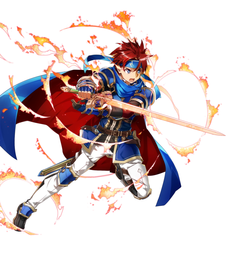 1boy armor blue_armor blue_eyes bunbun cape fire_emblem fire_emblem:_fuuin_no_tsurugi fire_emblem_heroes full_body gloves headband looking_at_viewer male_focus redhead roy_(fire_emblem) short_hair simple_background smile sword weapon