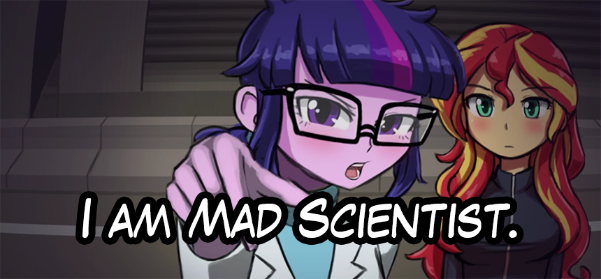 2girls blue_hair commentary english english_commentary engrish green_eyes long_sleeves lumineko multicolored_hair multiple_girls my_little_pony my_little_pony_equestria_girls my_little_pony_friendship_is_magic parody ranguage redhead steins;gate sunset_shimmer trait_connection twilight_sparkle violet_eyes