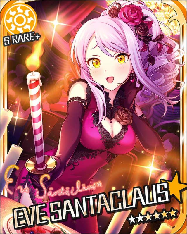 blush candle character_name dress eve_santaclaus idolmaster idolmaster_cinderella_girls long_hair smile stars white_hair yellow_eyes