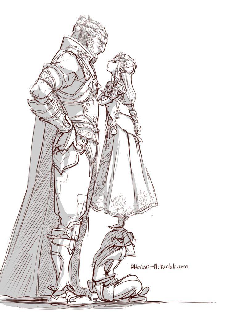 1girl 2boys armor dress ganondorf link multiple_boys nintendo princess_zelda salty-red-mage sitting size_difference standing_on_head the_legend_of_zelda the_legend_of_zelda:_twilight_princess