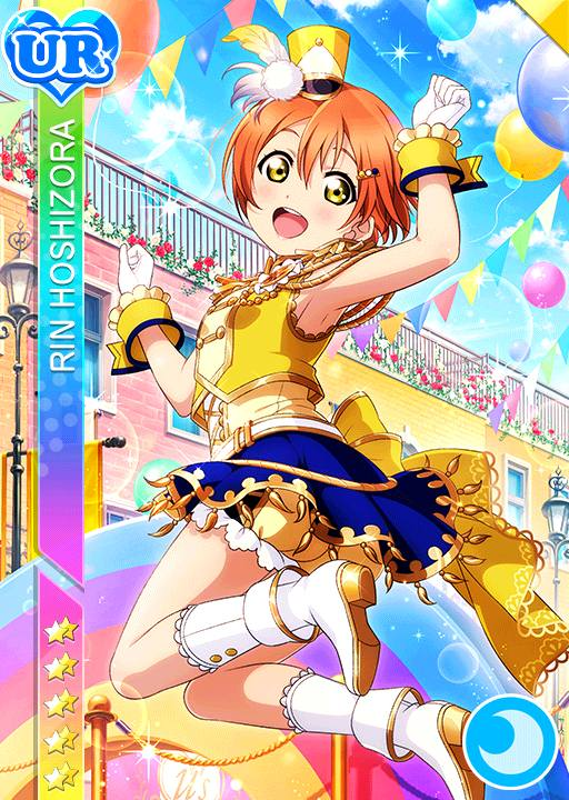 character_name dress green_eyes hoshizora_rin love_live!_school_idol_festival love_live!_school_idol_project orange_hair short_hair smile