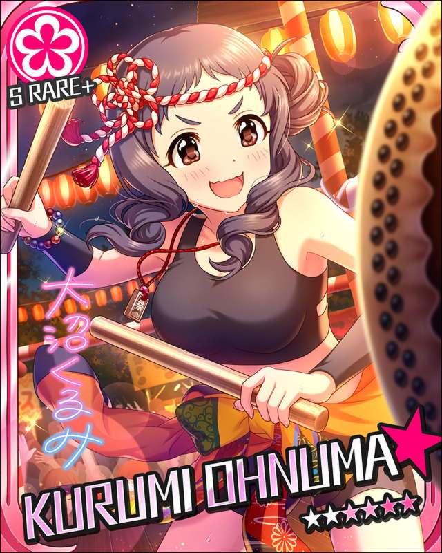 blush character_name dress festival idolmaster idolmaster_cinderella_girls long_hair oonuma_kurumi purple_hair smile stars violet_eyes