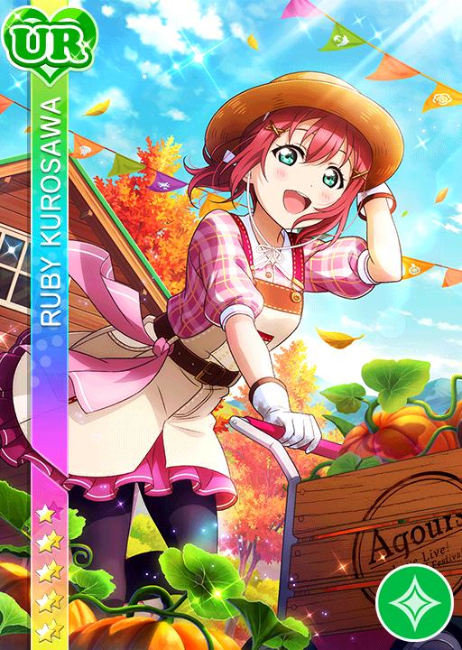 blush character_name dress green_eyes hat kurosawa_ruby love_live!_school_idol_festival love_live!_sunshine!! pink_hair short_hair smile