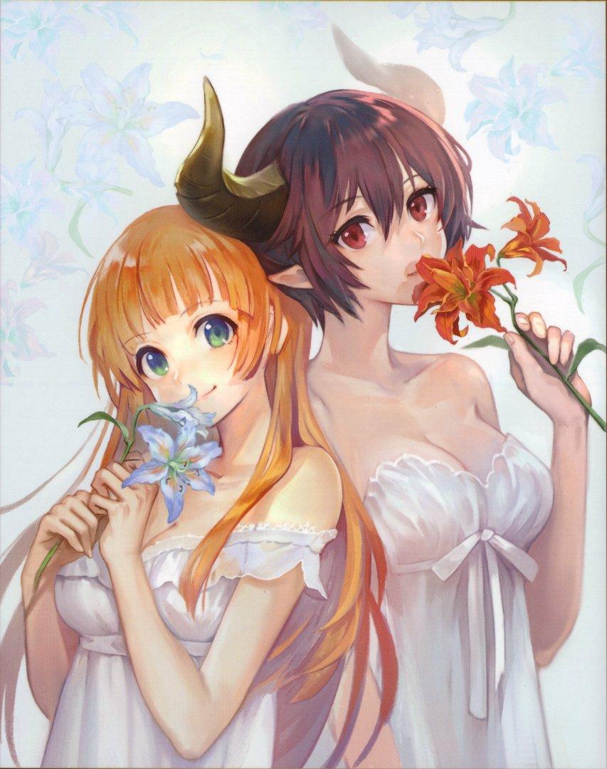 anne_(shingeki_no_bahamut) grea_(shingeki_no_bahamut) manaria_friends tagme