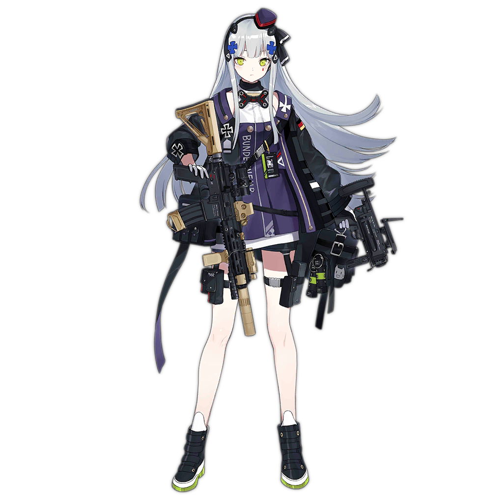 1girl ankle_boots assault_rifle bangs beret black_legwear boots breasts choker dress dual_wielding expressionless flashbang floating_hair full_body german_flag girls_frontline gloves green_eyes grenade_launcher gun gyaku_tsubasa h&k_hk416 handgun hat headgear heckler_&_koch hk416_(girls_frontline) holding jacket long_hair looking_at_viewer magazine_(weapon) mod3_(girls_frontline) name_tag official_art open_clothes open_jacket pistol pleated_skirt purple_dress rifle shoes sidelocks silver_hair skirt snap-fit_buckle solo thigh_strap transparent_background trigger_discipline weapon white_dress white_gloves younger