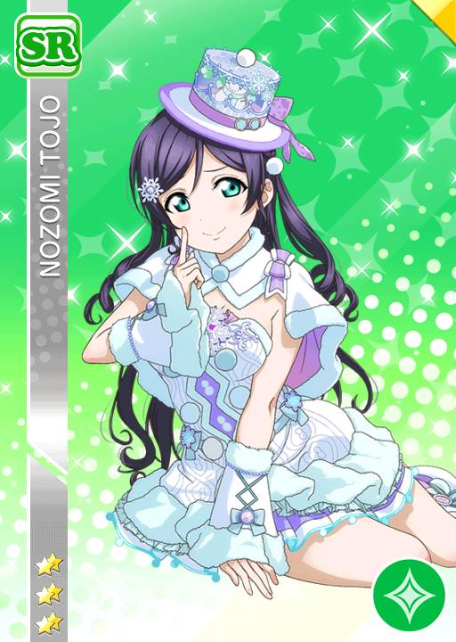 blush character_name dress green_eyes long_hair love_live! love_live!_school_idol_project purple_hair smile toujou_nozomi