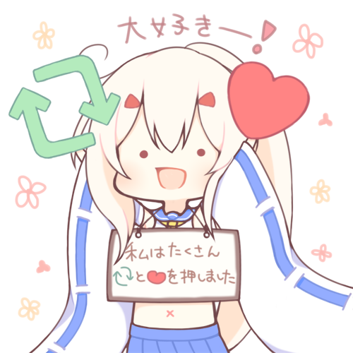 ._. 1girl :d arms_up ayanami_(azur_lane) azur_lane blue_sailor_collar blue_skirt blush chibi detached_sleeves directional_arrow floral_background heart holding long_hair long_sleeves lowres midriff navel open_mouth pleated_skirt ponytail sailor_collar sakurato_ototo_shizuku school_uniform serafuku shirt sidelocks sign sign_around_neck simple_background skirt sleeveless sleeveless_shirt smile solo translation_request twitter very_long_hair white_background white_hair white_shirt white_sleeves wide_sleeves