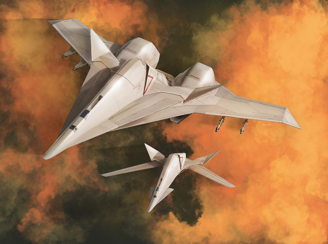 ace_combat ace_combat_7 adfx-10 adfx-10f aircraft airplane box_art clouds cloudy_sky fighter_jet flying jet military military_vehicle missile no_humans official_art sky tenjin_hidetaka