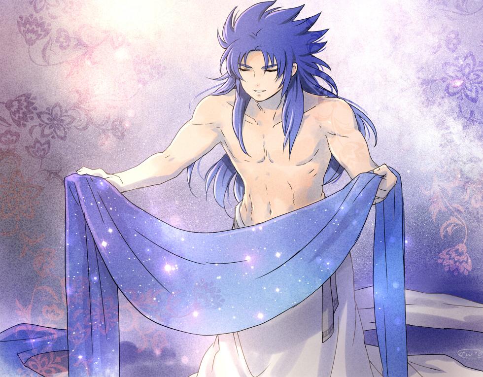 1boy bindi gemini_saga highres male mizuhara_aki saint_seiya