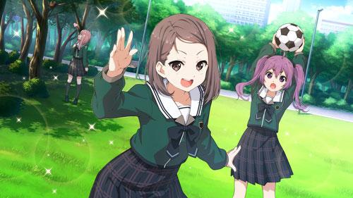 22/7 brown_hair hiiragi_tsubomi red_eyes school_uniform short_hair smile
