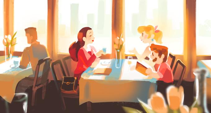 cafe flower gigi_d.g. mario mario_(series) pauline_(mario) princess_peach restaurant source_request super_mario_odyssey table