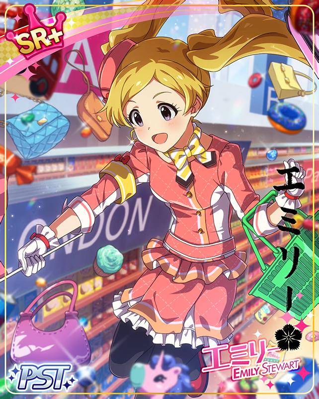 blonde_hair blush character_name dress emily_stuart idolmaster_million_live!_theater_days long_hair smile twintails violet_eyes