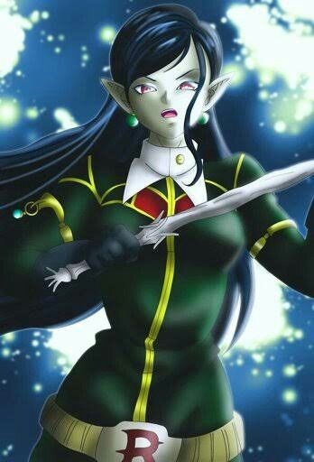 breasts demon_girl dragon_ball dragon_ball_heroes earrings female long_hair pointy_ears robelu solo tagme unknown_(artist) weapon
