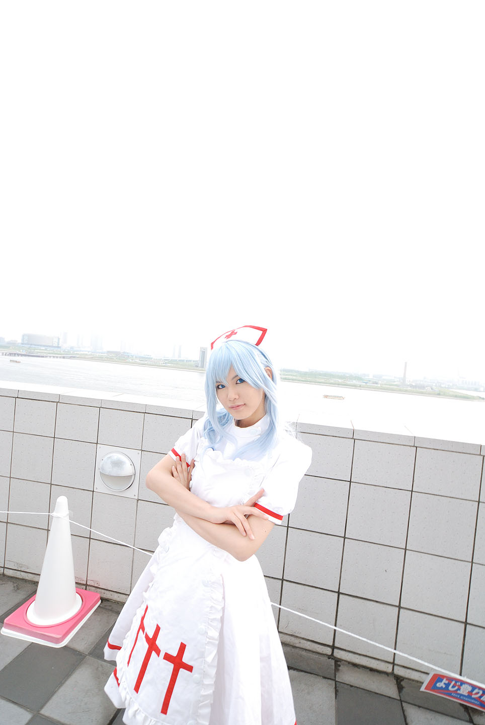 blue_hair cosplay kouno_tooru kouzuki_suzuka nurse nurse_uniform photo princess_princess