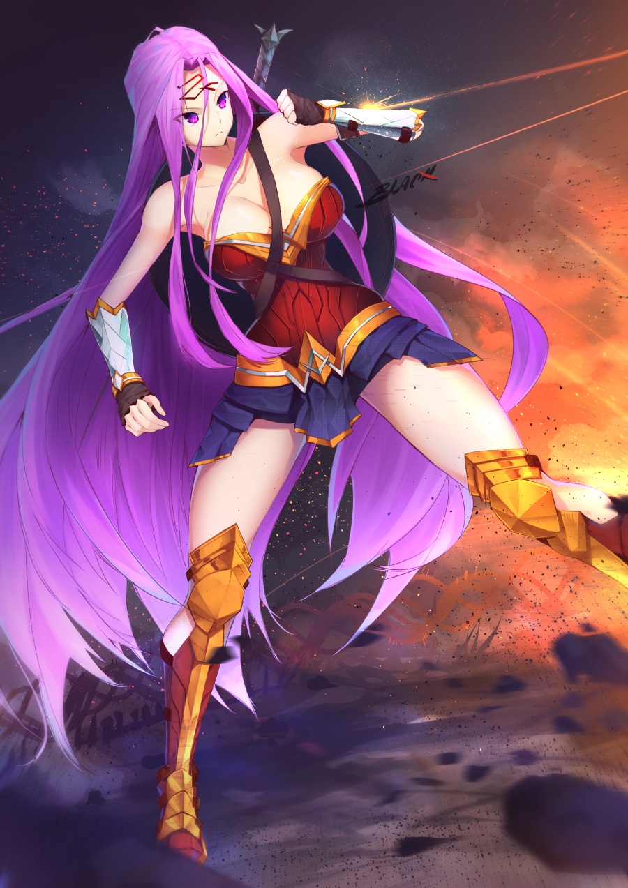 blackxsensei diana_prince fate/grand_order fate/stay_night fate_(series) goddess highres justice_league rider wonder_woman