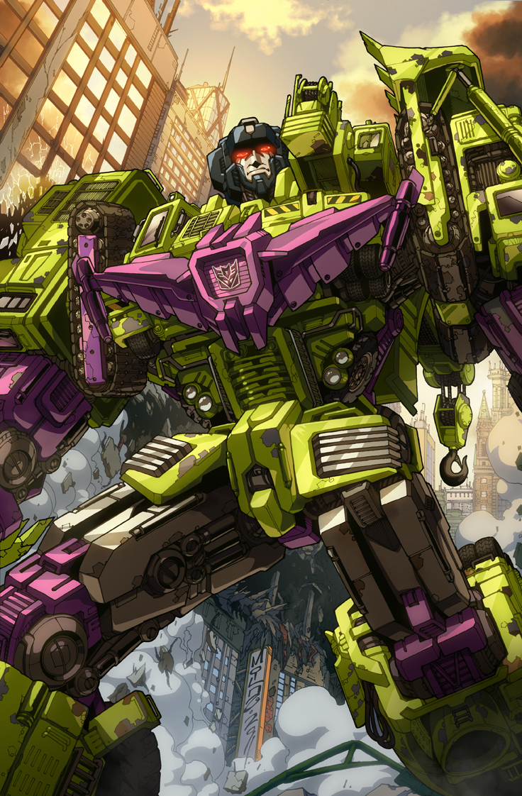 alex_milne caterpillar_tracks collaboration crane_(machine) decepticon devastator_(transformers) english_commentary espen_grundetjern frown glowing glowing_eyes insignia looking_up mecha no_humans science_fiction solo transformers