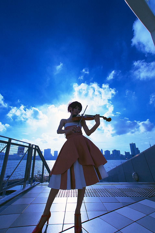 cosplay evening_gown hino_kahoko kiniro_no_corda kouzuki_suzuka photo redhead violin