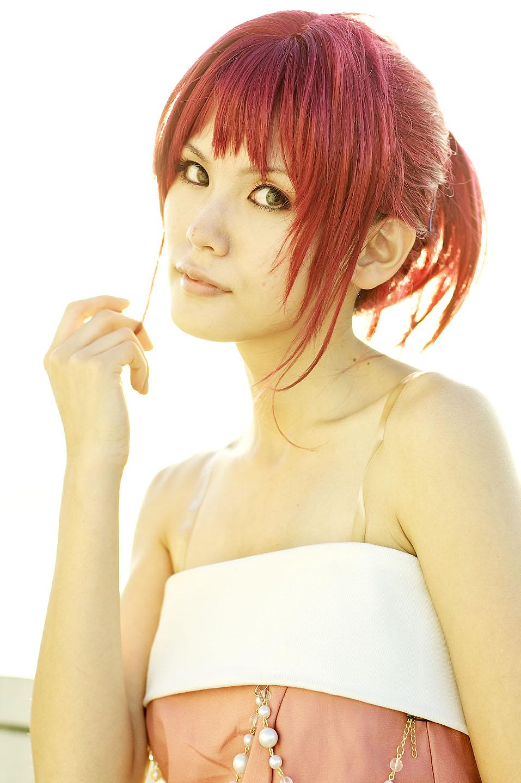 cosplay evening_gown hino_kahoko kiniro_no_corda kouzuki_suzuka photo redhead