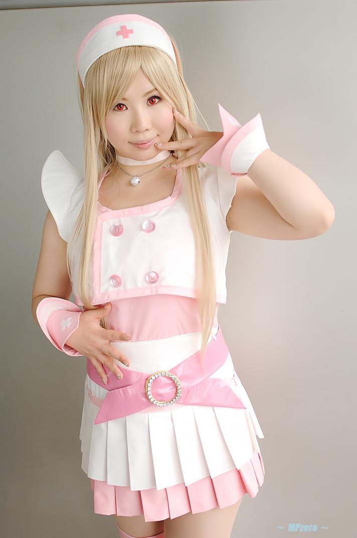 blonde_hair cosplay dream_of_doll nurse nurse_uniform photo thigh-highs twingky yuuna