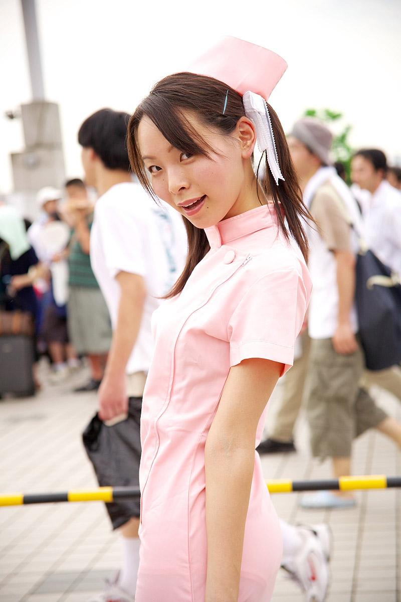 cosplay hair_bow kodama_hikaru night_shift_nurses nurse nurse_uniform yuu